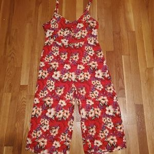 Cotton On hawaiian floral jumpsuit with pockets